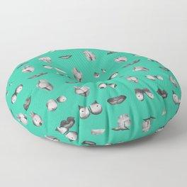 Make love plz Floor Pillow