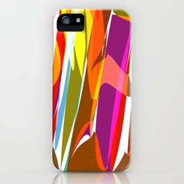 colorful jungle iPhone Case