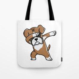 Funny Boxer Dog Dabbing Tote Bag
