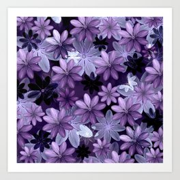 Ultra Violet Anemones of Tillandsia Art Print