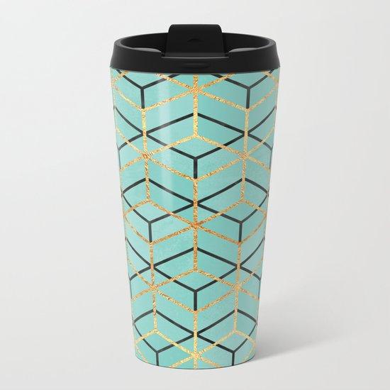 Pretty Geometry 2 Metal Travel Mug