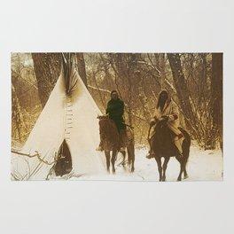 The winter camp - Crow (Apsaroke) Indians Rug