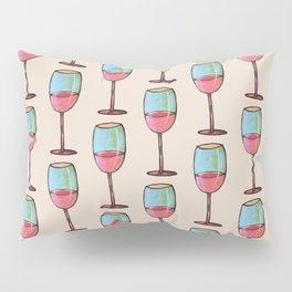 Abstract Modern Wine Art / Wine Tasting Pillow Sham