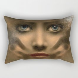 The Last Mirror, Female Portrait Rectangular Pillow