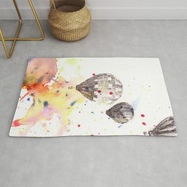 Hot Air Balloons Painting Rug