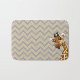 Chevron Giraffe! Bath Mat