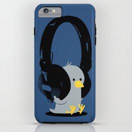 Le poussin mélomane (blue) iPhone Case