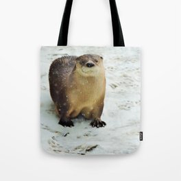 Snow otter Tote Bag