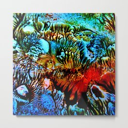 Colorful Underwater Plants Metal Print