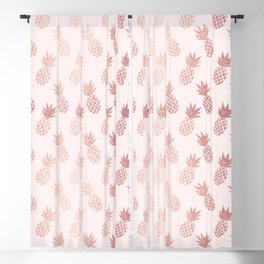 Rose Gold Pineapple Pattern Blackout Curtain