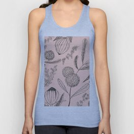 Floating Blush Garden Unisex Tank Top