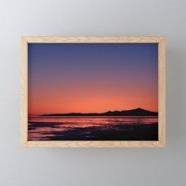 Mt._Iliamna Winter Sunset Framed Mini Art Print