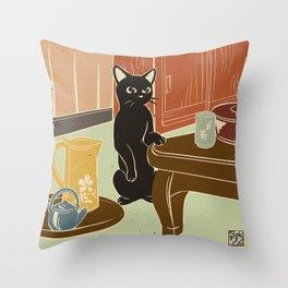 Tea room Throw Pillow