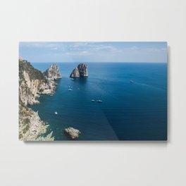 Italian landscapes - Capri Metal Print