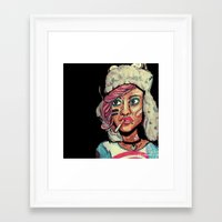 tank girl Framed Art Prints featuring Tank Girl by N3RDS+INK