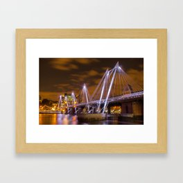 Hungerford bridge in All Its Glory  Framed Art Print