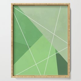 Gemetric Colors Green Serving Tray