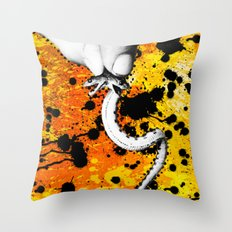 Two Headed Snake Throw Pillow