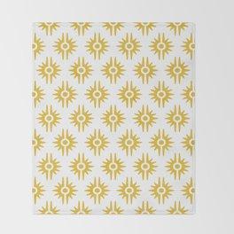 Mid Century Modern Bang Pattern 272 Must Yellow Throw Blanket