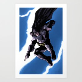 A Dark and Stormy Knight Art Print