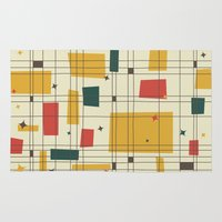 mid century modern Area & Throw Rugs featuring Mid-Century Modern by Studio Fibonacci