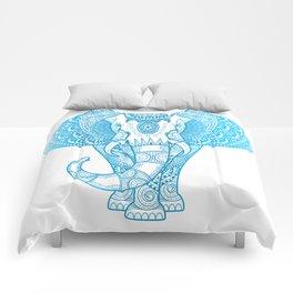 Teal Blue Elephant Comforters