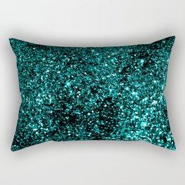 Aqua Blue Summer Night Lady Glitter #1 #shiny #decor #art #society6 Rectangular Pillow