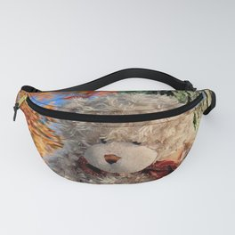 autumn reflections with teddy bear Fanny Pack