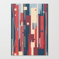 metropolis Canvas Prints featuring Metropolis by Tracie Andrews