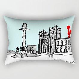O galo voou no Porto! Rectangular Pillow