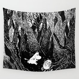 Moomins run for Stinky Wall Tapestry