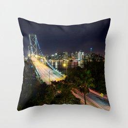 Bay Bridge Lights Throw Pillow