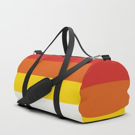 Multicolor Retro Stripes Trickster Duffle Bag
