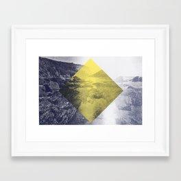 Yellow Diamond Framed Art Print