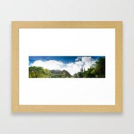 Iao Valley // Pano Framed Art Print