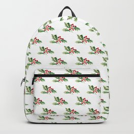 Holly Branch Merry Christmas  Backpack