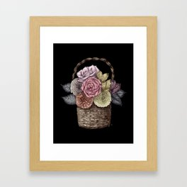 Flower Basket (color) Framed Art Print