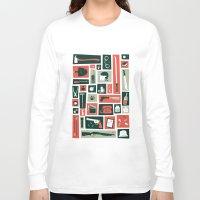 walking dead Long Sleeve T-shirts featuring The walking dead by Felix Rousseau