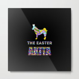 Akita gifts | Easter gifts | Easter decorations | Easter Bunny | Spring decor Metal Print