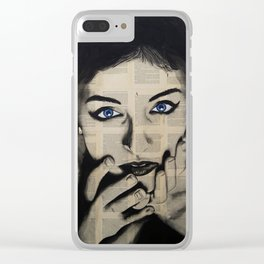 Blue Eyes Girl Clear iPhone Case