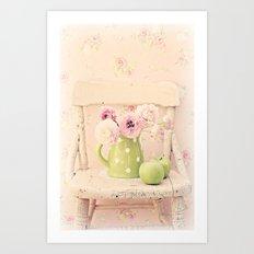 the pink chair Art Print