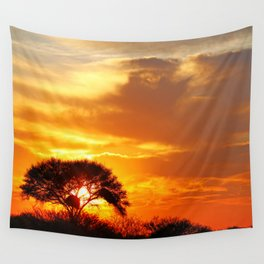 African sunrise Wall Tapestry