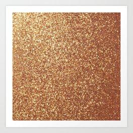 Bright Shiny Spanish Galleon Gold Glitter Art Print