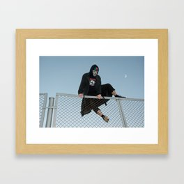 Hopping Fences Framed Art Print