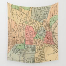 Vintage Map of Hartford Connecticut (1903) Wall Tapestry