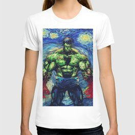 Angry Man in starry Night T-shirt