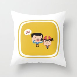 Let's Go! (Yellow Tales Series #3) Throw Pillow