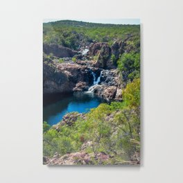 Pools and waterfalls viewed from above at Edith Falls, Australia Metal Print