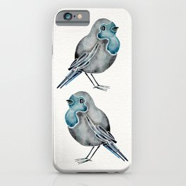 Little Blue Birds iPhone Case