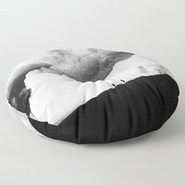 State of black and white isolation Floor Pillow